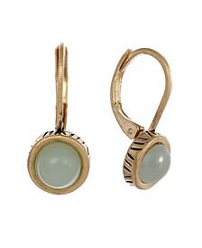 Gold-Tone Leverback Earrings