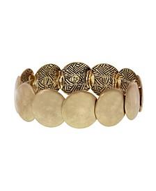 Gold-Tone Hammered Stretch Bracelet