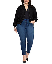Black Tape Plus Size Lace Bomber Jacket