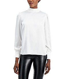 Smocked Mock-Neck Blouse, Created for Macy's