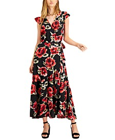 Printed Wrap Maxi Dress, Created for Macy's