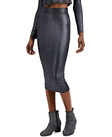 Metallic Bodycon Midi Skirt, Created for Macy's