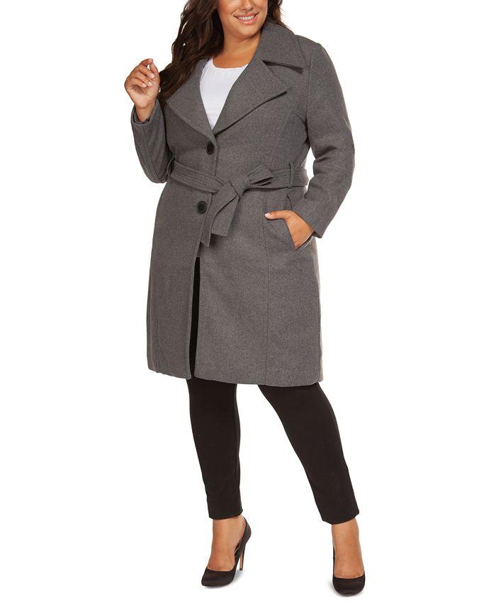Black Tape - Plus Size Belted Coat