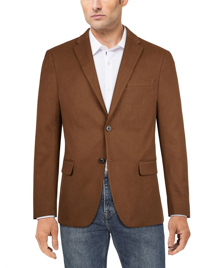 Tommy Hilfiger - Men's Modern-Fit Solid Sport Coat