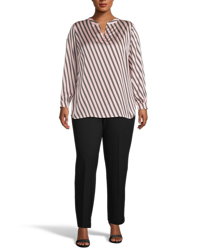 Anne Klein - Plus Size Striped Blouse