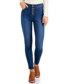 Button-Fly High Rise Skinny Ankle Jeans, Created for Macy's