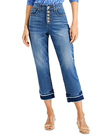INC Delancey Straight-Leg Cropped Jeans, Created for Macy's