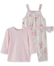 Little  Me Baby Girl Blossom Overall Set