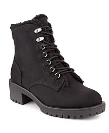 Women's Quizzer Shearling Combat Booties