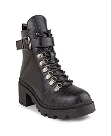 Women's Frannie Moto Lug-Sole Booties