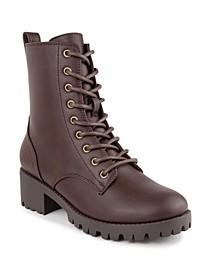 Women's Reggie Lace Up Lug Sole Combat Boots