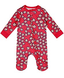 Earth Organic Baby Girl 1-Piece Alexa Coverall