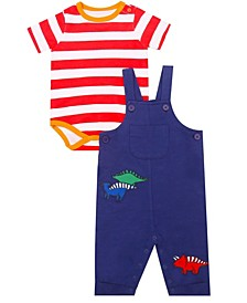 Earth Organic Baby Boy 2-Piece Kyle Overall Set
