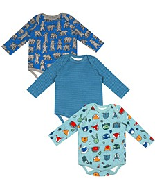 Earth Organic Baby Boy 3-Piece Jeremy Bodysuit Set