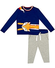 Organic Baby Boy 2-Piece Ryan Pant Set