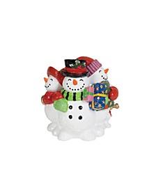 Holly Jolly Snowman Musical Figurine