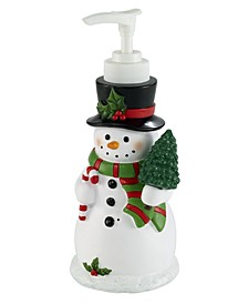 Snowman Lotion Pump with Music