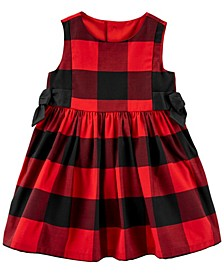 Baby Girl Buffalo Check Sateen Dress