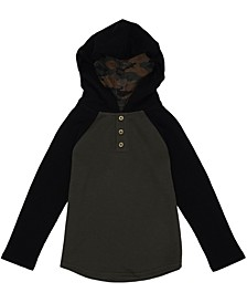 Toddler Boys Long Sleeve Hooded Thermal
