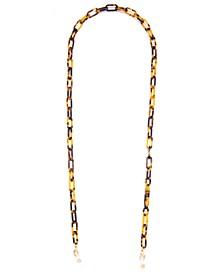 """Gold-Tone Color-Coated Link Eyeglass Holder 30"""""""