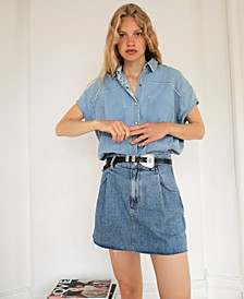 Cosmico Flirt Denim Mini Skirt