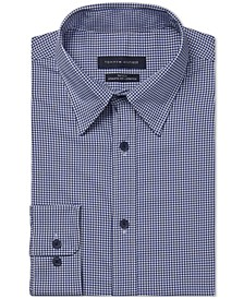 Men's Fitted Non-Iron TH Tech Performance Stretch No-Tuck Check Dress Shirt