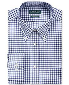 Men's Classic/Regular-Fit Non-Iron Ultraflex Performance Stretch Check Dress Shirt