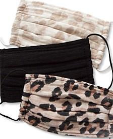 Leopard Cotton Face Mask 3pc Set