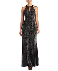 Velvet Glitter Gown