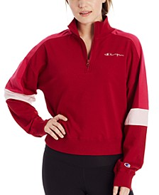 Women's Campus Colorblocked Half-Zip Sweatshirt