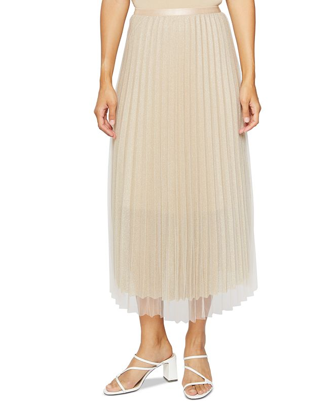 Lucy Paris Pleated Maxi Skirt
