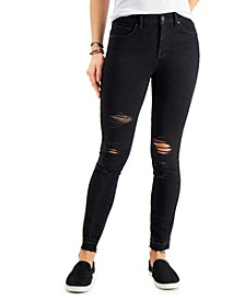 High-Rise Destructed Skinny Ankle Jeans, Created for Macy's