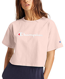 Champion Women's Logo Cropped T-Shirt