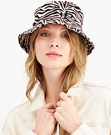 Ziger-Print Cotton Bucket Hat