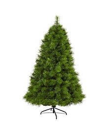 Scotch Pine Artificial Christmas Tree with 300 Clear LED Lights