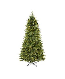 "Vancouver Fir ""Natural Look"" Artificial Christmas Tree with 600 Clear LED Lights and 2942 Bendable Branches"