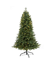 Vermont Fir Artificial Christmas Tree with 150 Clear LED Lights