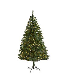 Northern Tip Pine Artificial Christmas Tree with 250 Clear LED Lights