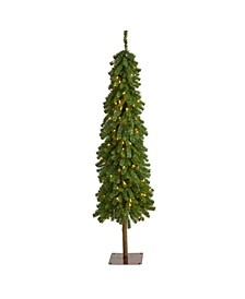 Alpine Artificial Christmas Tree with 150 Lights and 405 Bendable Branches