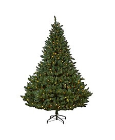 Northern Rocky Spruce Artificial Christmas Tree with 500 Clear Lights and 1948 Bendable Branches