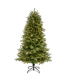 Snowed Grand Teton Artificial Christmas Tree with 300 Clear Lights and 730 Bendable Branches