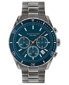 Men's Preston Chronograph Gray-Tone Bracelet Watch 44mm
