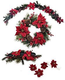 Martha Stewart Holiday Poinsettia Decor Collection