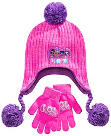 Girls 2-Pc. LOL Surprise! Hat & Gloves Set