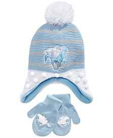 Girls 2-Pc. Frozen Hat & Mittens Set