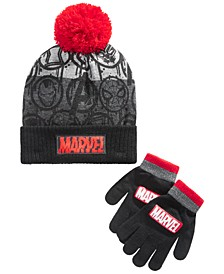 Boys 2-Pc. Marvel Hat & Gloves Set