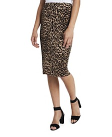 Women's Leopard Spots Midi Tube Skirt