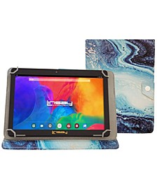 Android 10 Tablet with Ocean Marble Case