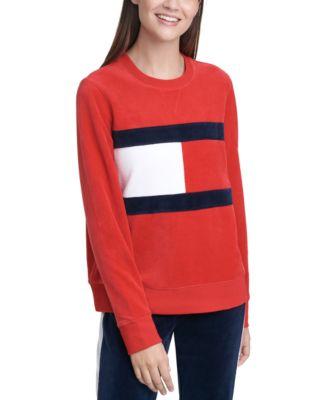 Colorblocked Velour Sweatshirt
