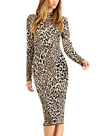 Cheetah-Print Jacquard Bodycon Sweater Dress, Created for Macy's